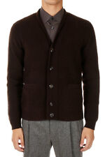 MARC JACOBS Men New Brown Knit Wool Cashmere Blend Cardigan Sweater Italy Made