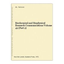Biochemical and Biophysical Research Communications Volume 49 (Part 2) div. Auto
