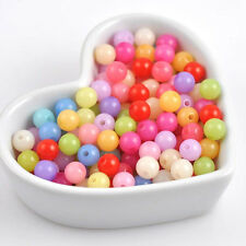 Mix Colorful Candy Acrylic Spacer Round Loose Beads Jewelry Making DIY 6/8/10mm