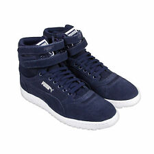 Puma Sky Ii Hi Core Mens Blue Leather High Top Lace Up Sneakers Shoes