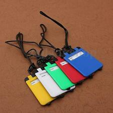 5Pcs Plastic Luggage Tags Suitcase Bag Tag Name Address ID Tags Travel Holiday