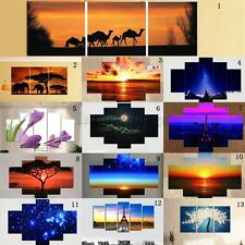Large Night Beach & Sunset Canvas Print Wall Art Painting Picture Decor Unframed