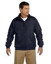 Harriton Jacket Fleece-Lined Nylon M740 NEW Blue Large & More Size/Colors