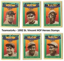 1992 St. Vincent HOF Heroes Stamps Baseball Set ** Pick Your Team **