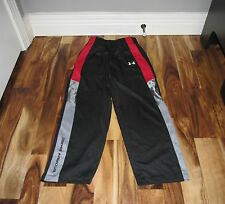 UNDER ARMOUR BOYS' LOGO UA ATHLETIC PANTS BLACK RED GREY SIZE 6 EUC