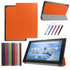 Amazon Kindle Fire HD 7/8/10 2015 Model Trifold Slim Stand Cover PU Leather Case