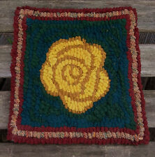 YELLOW ROSE  Primitive Rug Hooking KIT WITH #8 CUT WOOL STRIPS