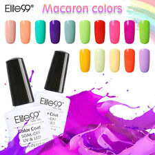 Elite99 Macaron Colors Nail Art Gel Nail Polish UV LED Varnish Manicure Top Base