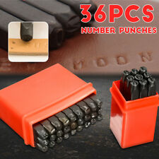 AU 4MM 36 pcs Letter and Number Punches Set Stamp Punch Set Hardened Steel