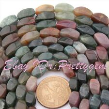 """Natural Indian Agate Multicolor Rectangle Gemstone Beads Strand 15"""" 6x12,8x16mm"""