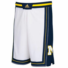 adidas Michigan Wolverines White Point Guard Basketball Shorts - College