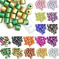 20/25pcs Acrylic Miracle Beads Illusion Cylinder Jewellery 8.5x8.5mm/10x8mm