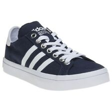 New Boys adidas Blue Court Vantage Canvas Trainers Skate Lace Up
