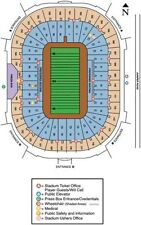 2 Notre Dame vs NAVY Tickets  South Lower Level End Zone