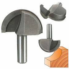 "1/2 Inch Shank 2"" Diameter Round Nose Cove Core Box Router Bit Wood Cutter Tool"