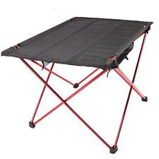 Folding Portable Camping Picnic Outdoor Dinner Dining Table Aluminum+Cloth Black