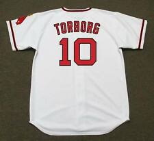 JEFF TORBORG California Angels 1972 Majestic Cooperstown Home Baseball Jersey