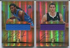 (2) 2012-13 PANINI GOLD STANDARD RC AUTO JERSEY JIMMER FREDETTE, JAE CROWDER