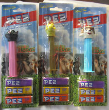 Lot of 3 OVER The HEDGE PEZ Dispensers W/ Candy NEW On Card RJ Verne STELLA