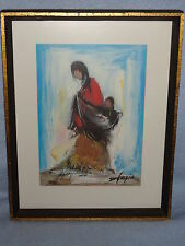 74' Ted DEGRAZIA DOUBLE Artist Signed Art Print 124 of 200 The End of a Long Day