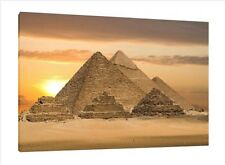 Egypt Pyramids - 30x20 Inch Canvas Art - Framed Picture Print