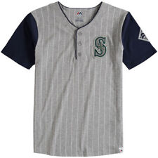 Majestic Seattle Mariners Youth Gray Life or Death Henley T-Shirt - MLB