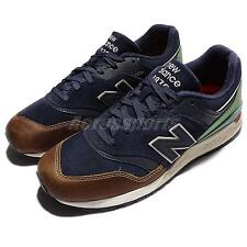 New Balance ML997HNA D Green Navy Leather Men Running Shoes Sneakers ML997HNAD