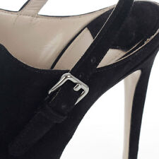 MIU MIU New woman Black Suede Leather sabot Pumps heel 13 cm  Made in Italy