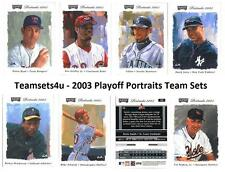 2003 Playoff Portraits Baseball Set ** Pick Your Team **