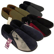 Mens Classic Quality Slipper Twin Elastic Gusset Slippers Size UK 7 8 9 10 11 12