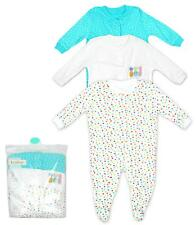 Girls Baby Pack of 3 Pineapple Sleepsuits Popper Rompers Newborn to 24 Months