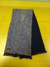 Vintage SAMMY blue Paisley Scarf made in England