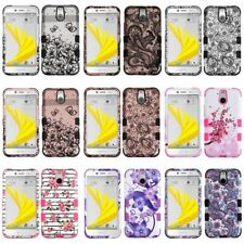 For HTC Bolt TUFF Hybrid Hard Silicone Dual Layer Shockproof Cover Case
