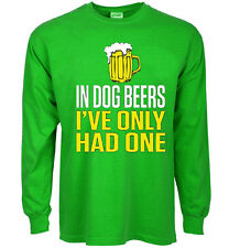 Funny st patricks day t-shirt Dog Beers decal shirt for men green