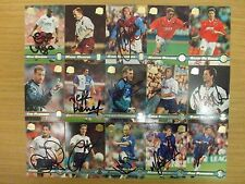AUTOGRAPHED : MERLIN PREMIER GOLD 1998/98 CARDS: SCROLL DOWN THE LIST: LOOK !!!