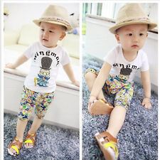 Kids Baby Boys Sportswear Clothes T-shirt Top +Short Pants Summer Outfit Sets