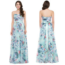 Women Chiffon Long Bridesmaid Formal Gown Ball Party Cocktail Evening Prom Dress