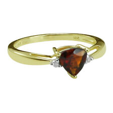 Solid Gold Madeira Citrine & Diamond Solitaire 0.78 ctw Ring GSR400