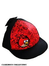 Boys ANGRY BIRDS  Black & Red Summer/Holiday Peaked Cap/Sun Hat   4-8 yrs
