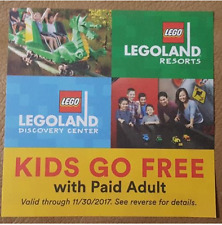 COUPON FOR FREE CHILD TICKET LEGOLAND CALIFORNIA FLORIDA DISCOVERY