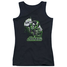 Justice League Green Lantern Green & Gray Juniors Tank Top Shirt BLACK