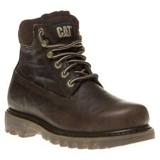 New Womens Caterpillar Brown Bruiser Leather Boots Ankle Lace Up