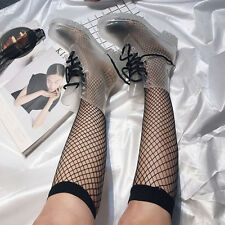 Breathable Women Hollow Out Fishnet Ankle/Knee High Sock Black Meshed Net Sock