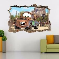 Tow Mater Disney Cars Movie Mcqueen Smashed Wall Decal Wall Sticker Art H953