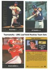 1991 Leaf Gold Rookies Baseball Set ** Pick Your Team **