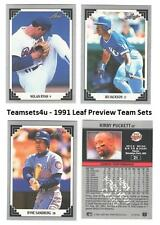 1991 Leaf Previews Baseball Set ** Pick Your Team **