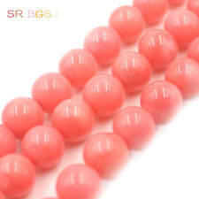 4 6 8 10mm Natural Round  Pink Sea Bamboo Coral Gemstone Jewelry Beads 15""