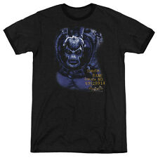 Batman Aa Arkham Bane Mens Adult Heather Ringer Shirt Black