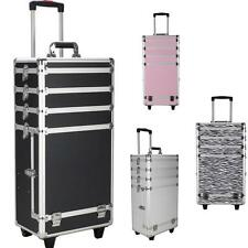 4 in 1 Interchangeable Aluminum Rolling Makeup Case Cosmetic Train Box Trolley