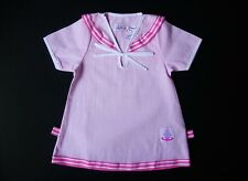 BABY GIRL DRESS Pink Check Pattern Short Sleeved Cotton Dress Casual Clothing